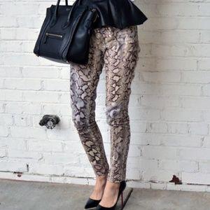 Zara Basic size 12 snake print skinny pants